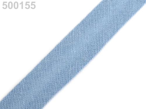 Šikmý proužek 14 mm zažehlený (5m) - Cashmere Blue
