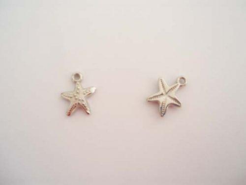 Hvězdice stříbro 15x20mm 3ks