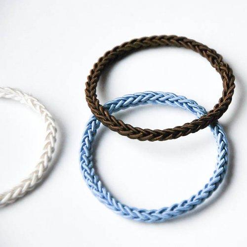 SET GUMIČIEK tenkých | Bielo - modro - hnedý