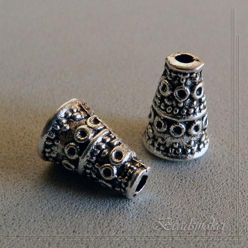 Kaplíky starostříbro 10x7 mm - 2 kusy