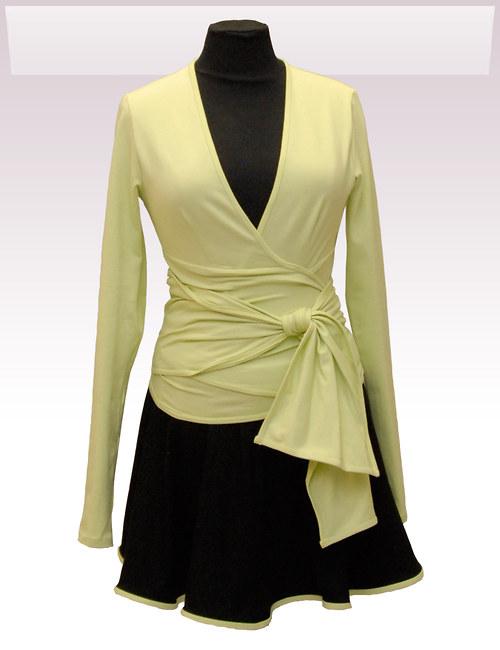 Zelený zavinovací kabátek belaroma s dl. rukávem