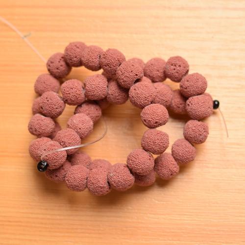 Lávové kuličky 10 mm - 4 kusy