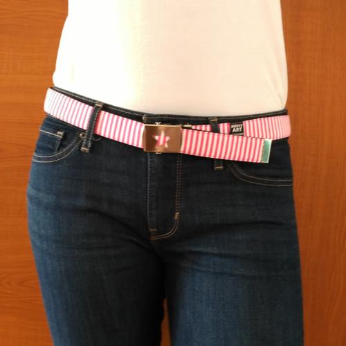 Pásek - proužek růžový