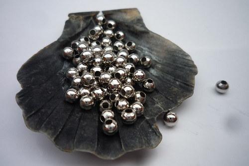 * kuličky starostříbrné 50 ks, 3mm