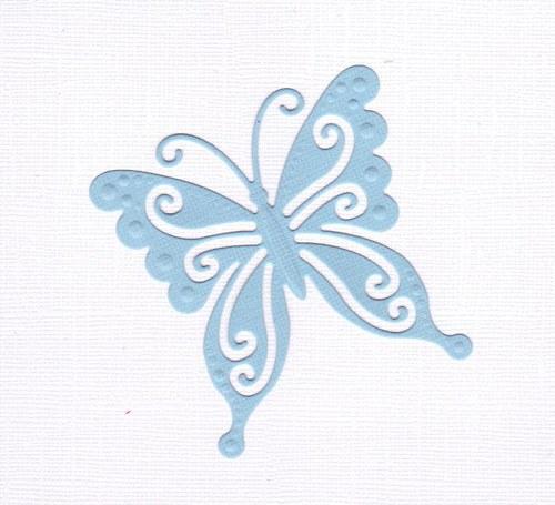 Motýlek - světle modrý výsek (1 ks)