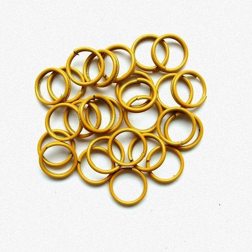 Spojovací kroužky dvojité žluté