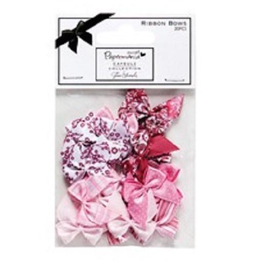 Textilní mašličky růžové