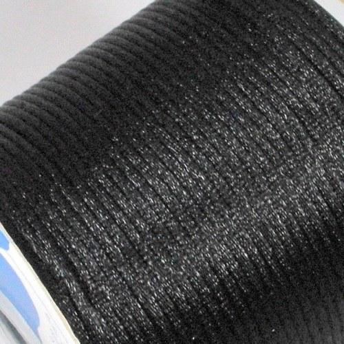Saténová šňůrka 2 mm / černá