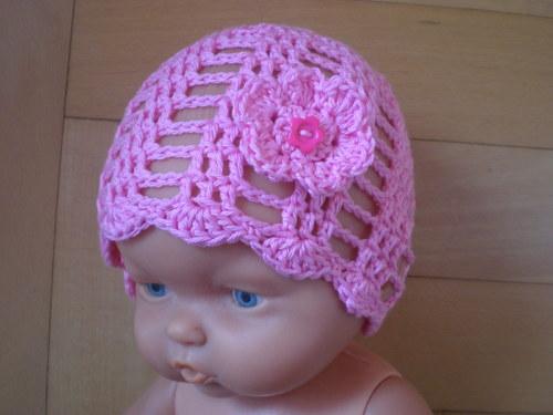 Čepice do porodnice léto
