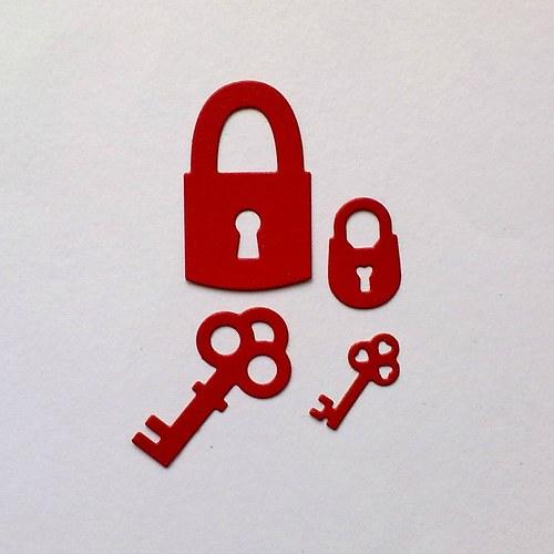 Výsek - Klíče a zámek 4ks