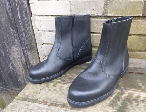 Kožené pánské vojenské zimní boty