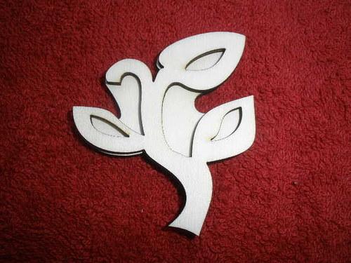Razítko překližka tulipán zav. květ+stonek - v.6x5