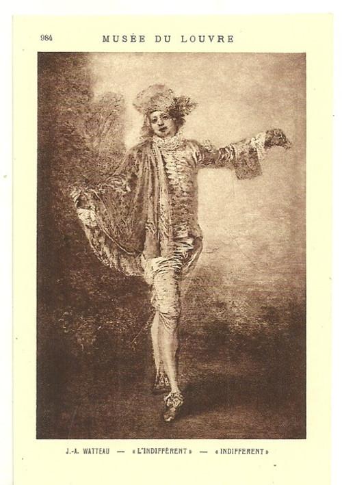 Umělecká pohlednice J.A.Watteau