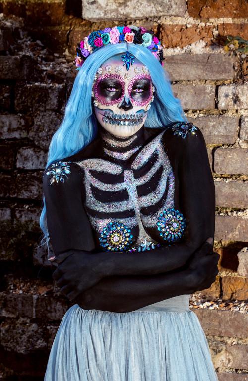 Květinová čelenka Sugar skull Halloween