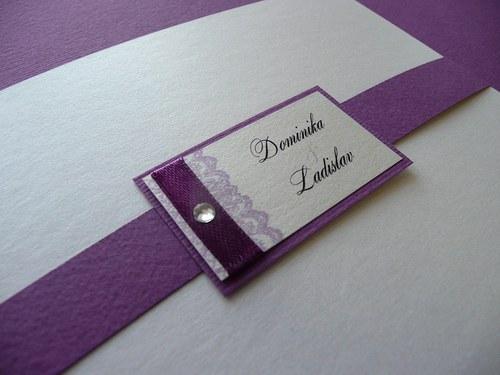 """Svatební oznámení \""""Diamond lace\"""""""