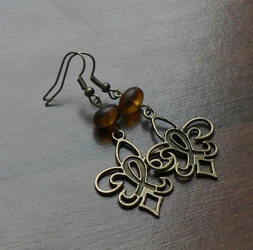 Bronzové náušnice
