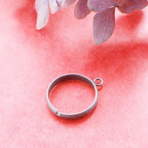 Prsten s očkem,  Ø 18mm, starobronz