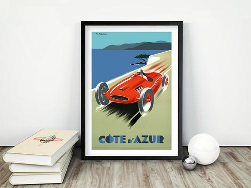 Vintage plakát Cote ďAzur