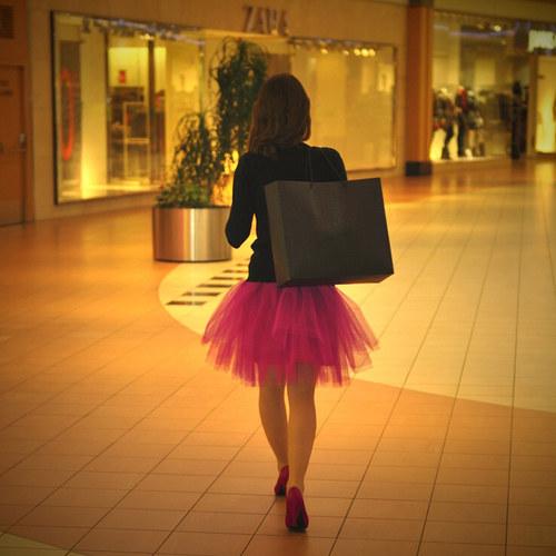 Sytě růžová tylová sukně-SKLADEM