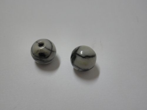 jaspis pruhovaný 6mm 2ks