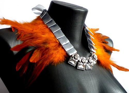 Péřový náhrdelník Fantasia