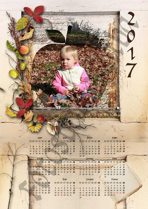 Roční scrapbookový kalendář z vaší fotografie 107