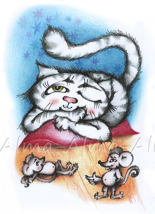 kočka Mína