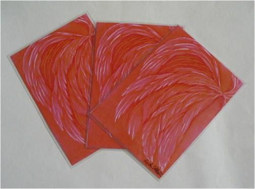 Růžová křídla Andělů - kartička