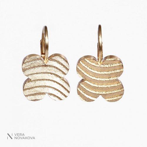 Náušnice Čtyřlístky - zlato