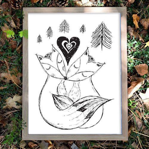 Autorský ilustrovaný plakát *MY DVA*, formát A3
