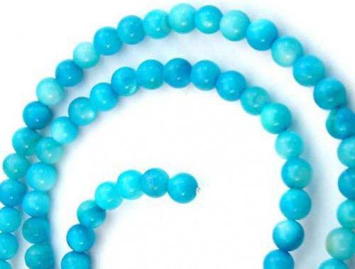 Perleťové korálky světle modré