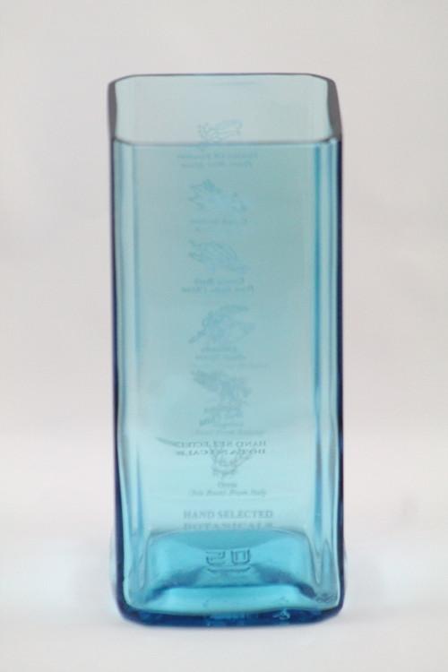 Hranatá váza modrá