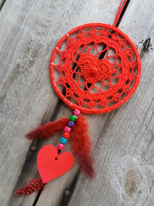 lapač snů červené srdce