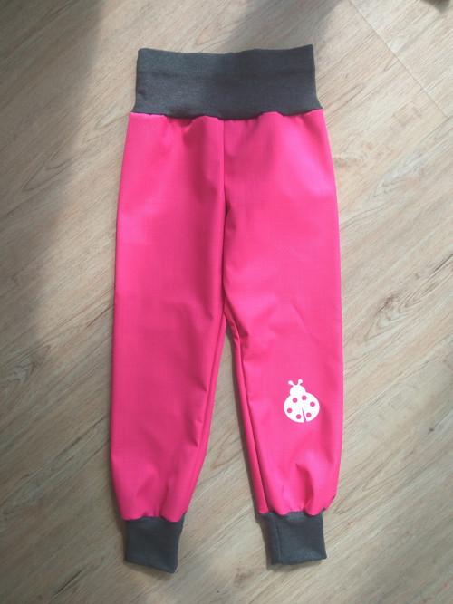 jarní/podzimní softshell kalhoty- růžová/grafit