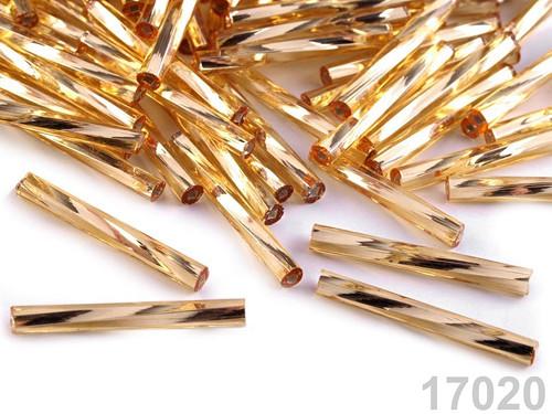 Rokajl Preciosa tyčky 20 mm (20g) - zlatá sv.