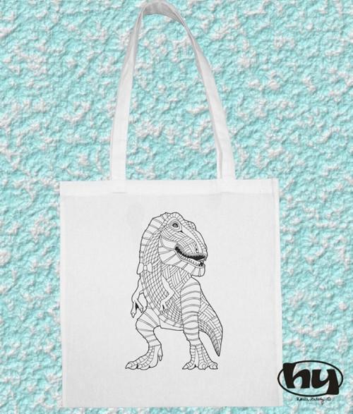 Dino gentleman - taška k domalování