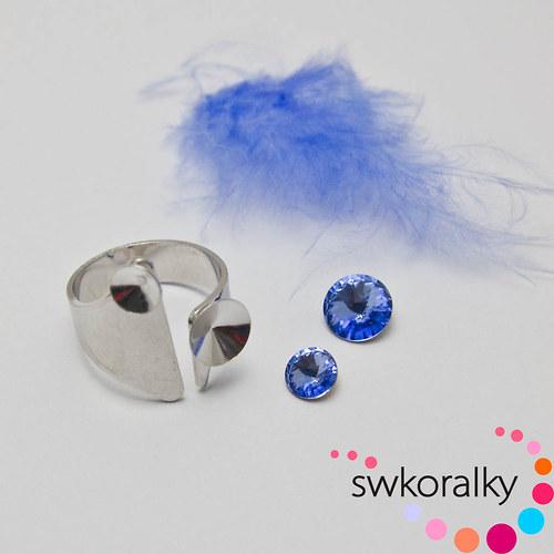 Prsten na RIVOLI kámen 6,8 SWAROVSKI ® ELEMENTS