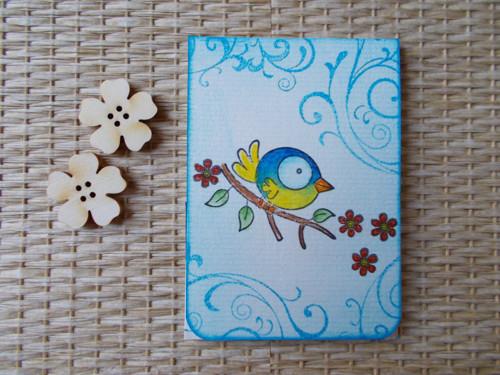 Magnetická záložka do knihy-ptáček
