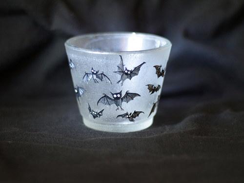 Svietnik na čajovú sviečku - Baby Bats