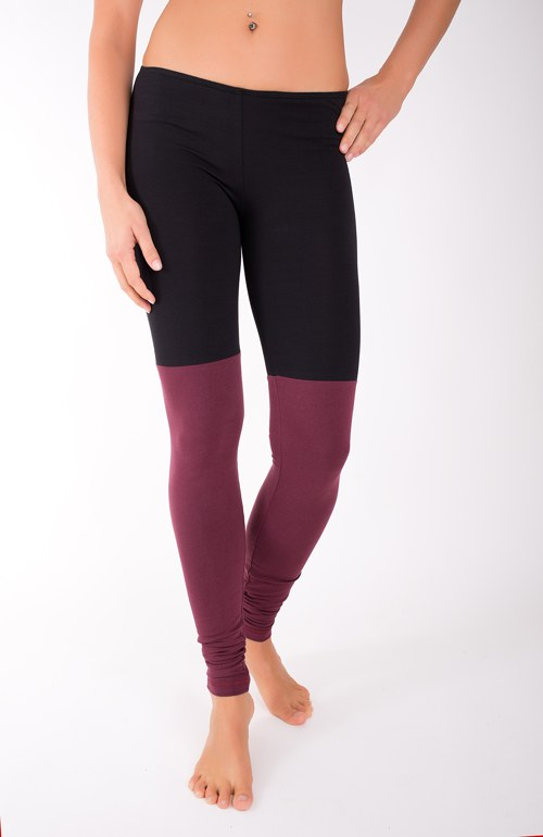 DOUBLE LONG LEG... burgundy/black
