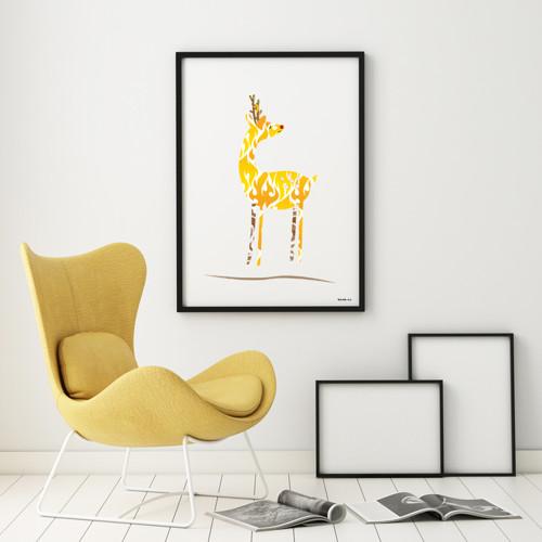 Jelínek žlutý Alfons / Tisk autorské grafiky
