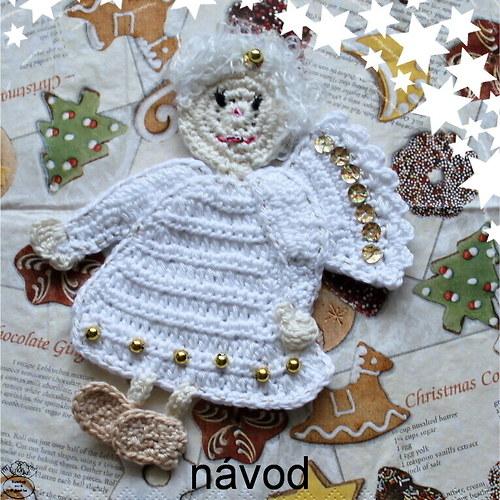 Návod_andílek Naděje_vánoční dekorace