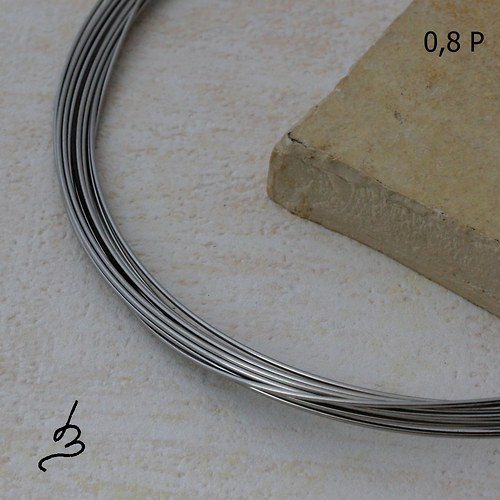 Osteo drát polotvrdý 0,8 mm - 5 m