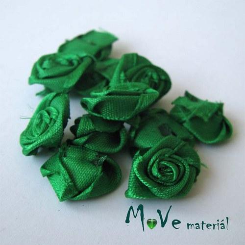 Růžička saténová zelená Ø15mm, 10kusů