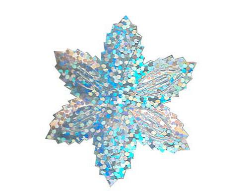 Flitry - stříbrná  vánoční hvězda (1433-177) 50g