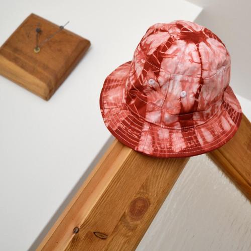 Batikovaný dětský klobouček - růžovo-vínový