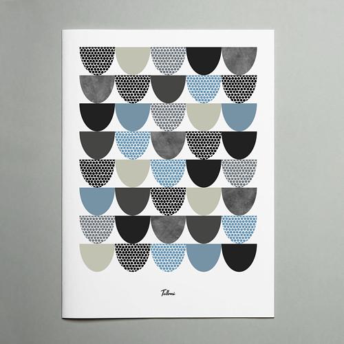 Designový plakát Leifar 30x40cm