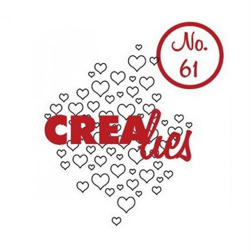 Silikonová razítka Crealies / Open Hearts