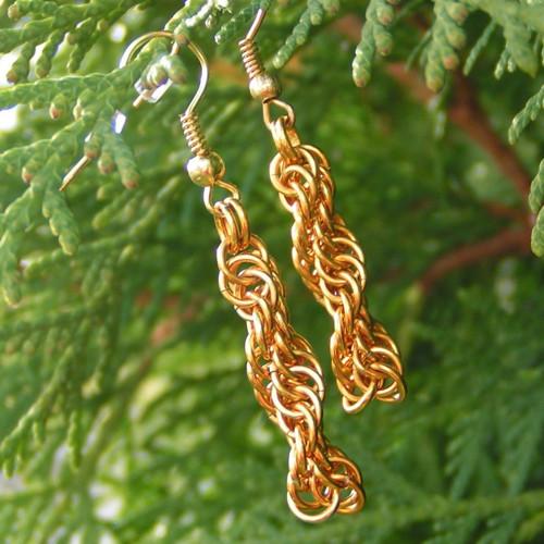 Zlatá spirálka - náušnice