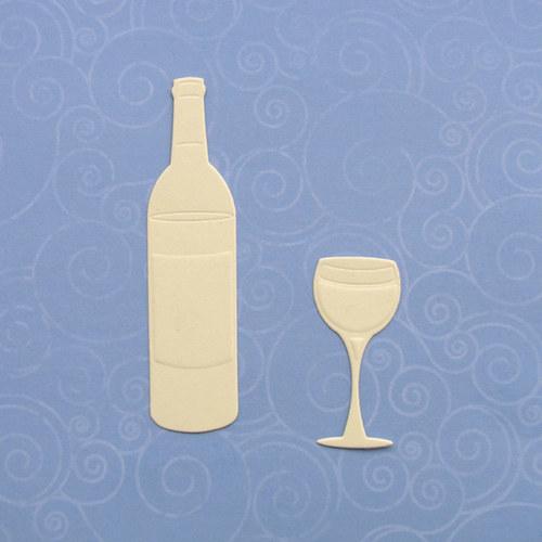Láhev vína se skleničkou